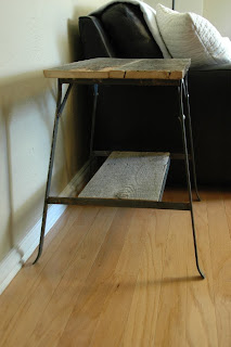 Industrial Farmhouse Side Table for sale, end table - vintageaz.blogspot.com