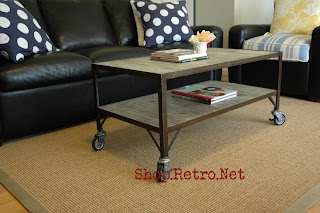 French Industrial Era Coffee Table / Cart $345 http://vintageaz.blogspot.com/2009/11/french-industrial-era-coffee-table-cart.html