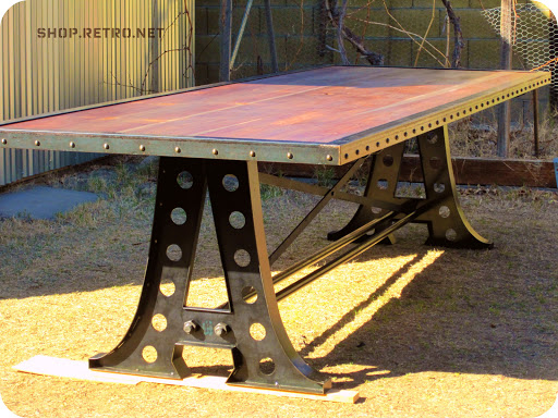 A Frame Vintage Industrial Conference Table