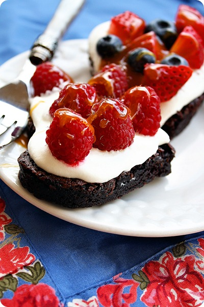 Brownie Fresh Fruit Tarts