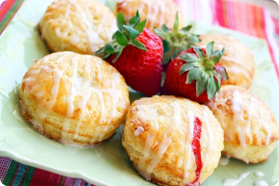 Fruit Filled Puff Pastry Doughnuts