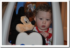 EC mickey in car