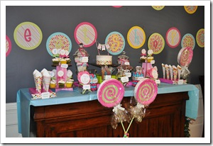 whole candy table