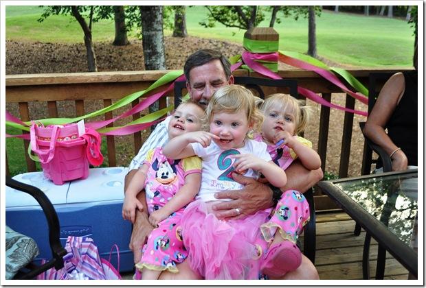 papaw and 3 girls