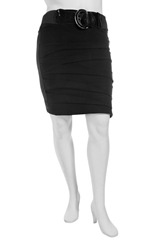 Fold Stretch Pencil Skirt