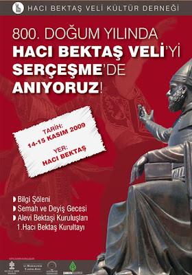 Alevi Bektaşi kuruluşları 800. doğum yılında Hacıbektaş Veli'yi SERÇEŞME'de