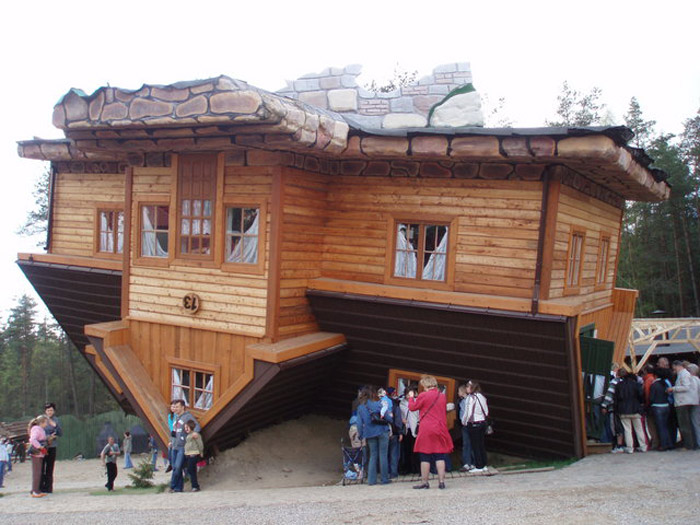 10 strange upside down buildings The upside house