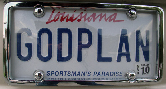 god plan license plate