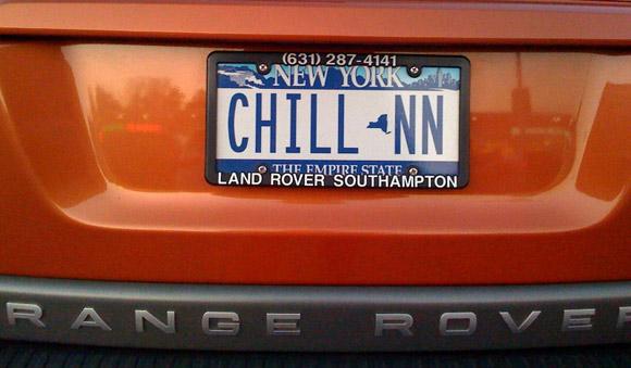 chillin license plate