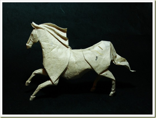 Roman Diaz origami horse