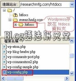 找到Wordpress安裝的目錄