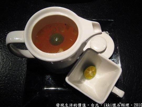 ikki懷石創意料理餐廳,熱水果桔茶