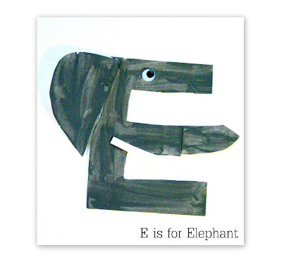 Craft Ideas Letter on Is For Elephant  Craft