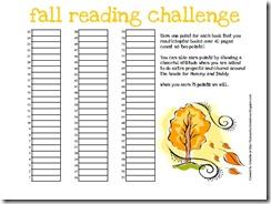 fall reading Chart