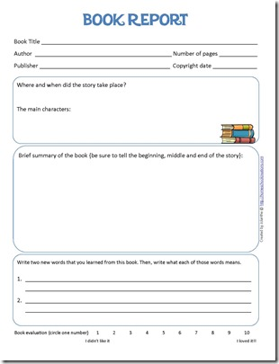 Worksheets Book Report Worksheet book report form and reading log printables