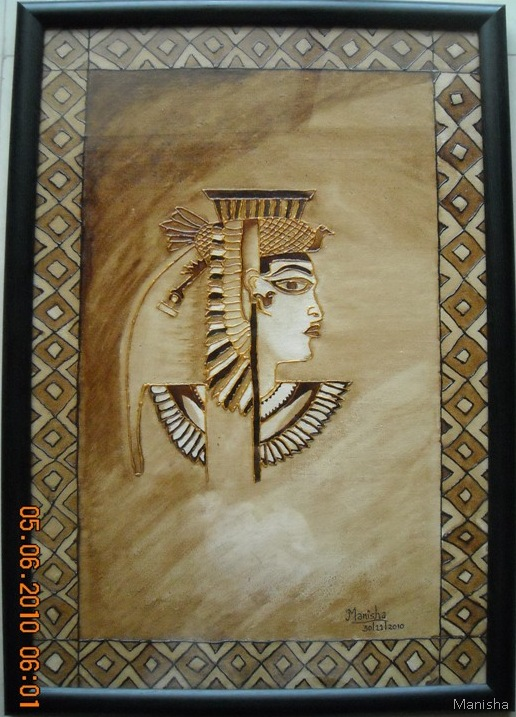 Coffee-Painting-Egyptian-Queen