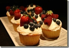 fruit filled cupcake