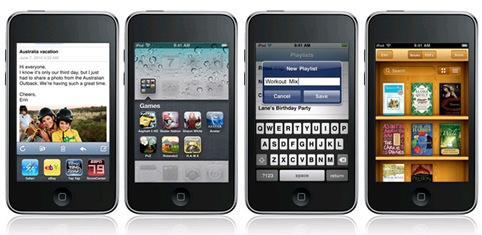 iOS4 (iPhone OS 4) released by Apple
