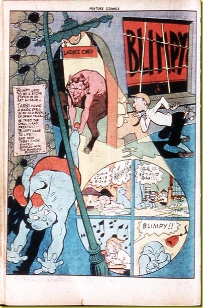 Cartoon genie and comic book Pan satyr_Feature Comics 76_1