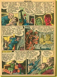 Old rare back issue comic book page shows a man in a prison uniform in the rain.