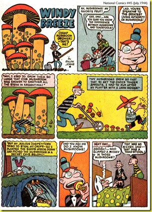 image: cartoon giant mushrooms