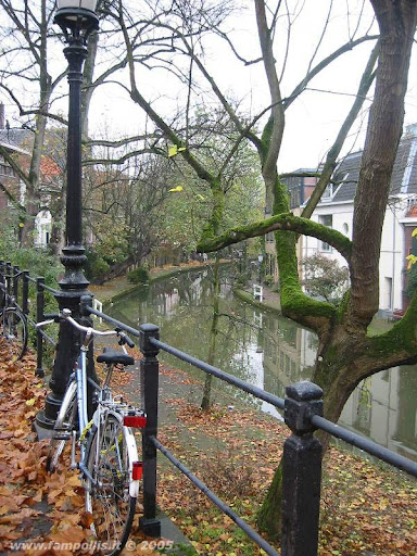 Utrecht, un canale e una bici