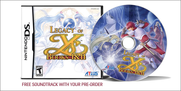 Free Legacy of Ys Soundtrack with Pre-Order