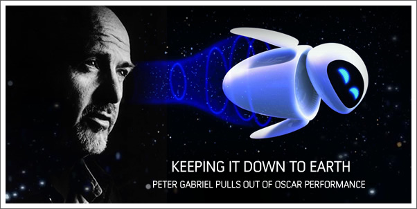 Peter Gabriel Pulls Out of Oscar Performance