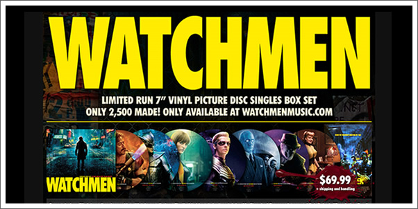 Watchmen Soundtrack 7 in. Vinyl Picture Disc Box Set