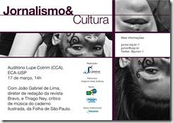 E-flyer Jornalismo & Cultura