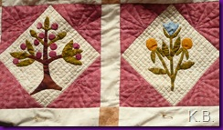 gequilteter Block Sally Post Sampler
