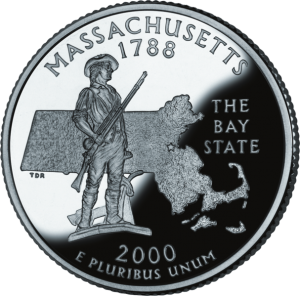 Massachusetts State Quarter Depicting Minutemen