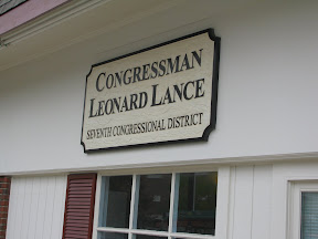 Leonard Lance US House of Representative District 7 Westfield NJ Office