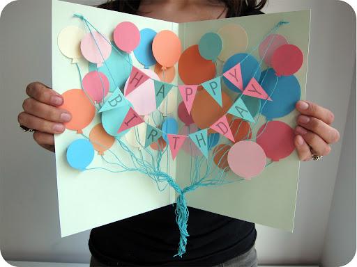 Balloon explosion card!