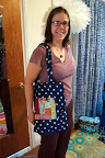 Anne used the scraps to make a tote bag.