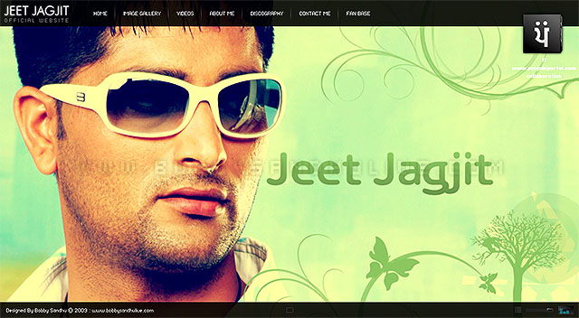 jeet jagjit website design in flash, flash website design