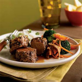 Peppercorn-Crusted Pork Tenderloin with Soy-Caramel Sauce