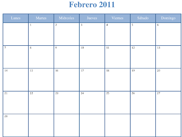 Calendario Fiscal Febrero 2011