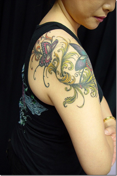 Back-Butterfly-Tattoos