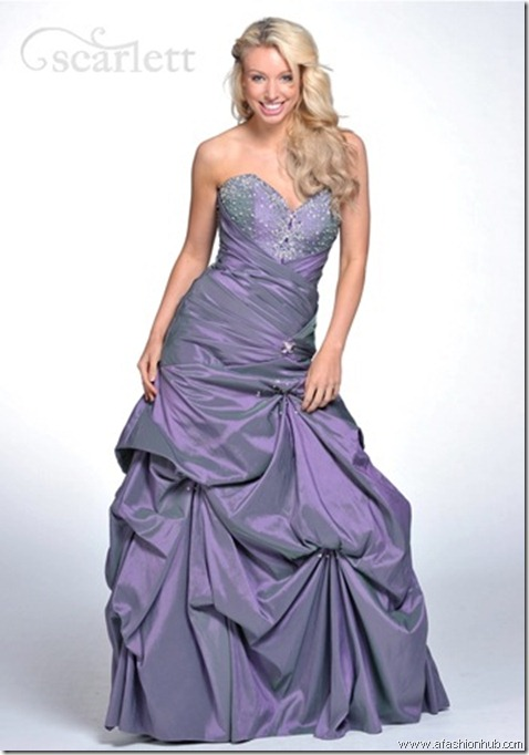 Nicolette, also in Pool Blue and in Silver-Prom dress and ballgown