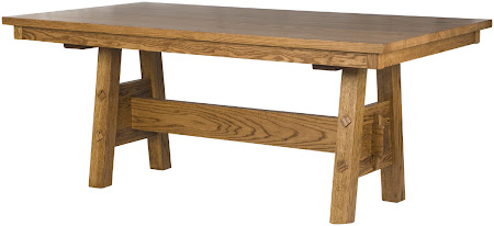 "70"" x 42"" Geneva Table in Rustic Oak"