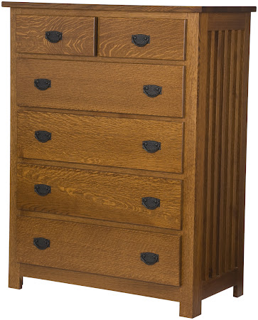 Mission Vertical Dresser in Mahogany Quarter Sawn Oak