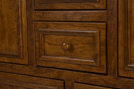 Lotus Wardrobe Dresser in Antique Cherry