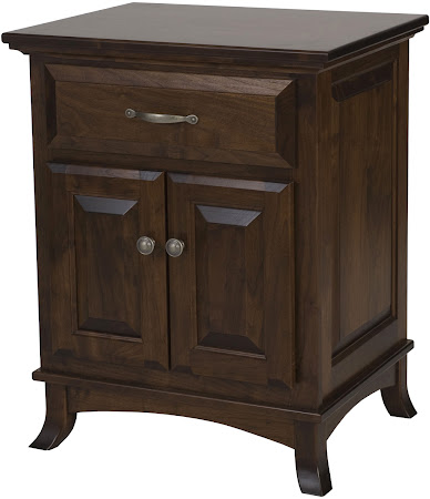 Rochester Nightstand with Doors, Shown in Lexington Oak