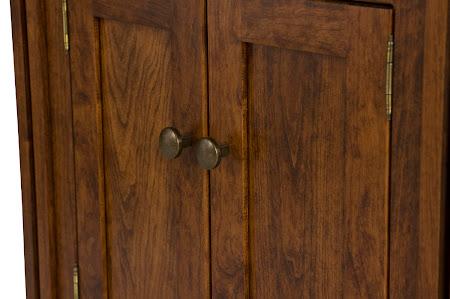 Sacramento Nightstand with Doors, in Blackened Oak
