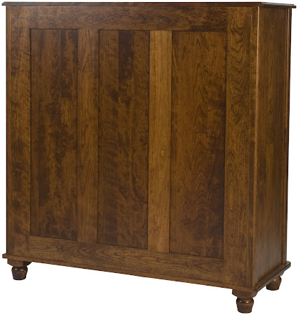 Lotus Wardrobe Dresser in Antique Cherry, Hardwood Rear Panel