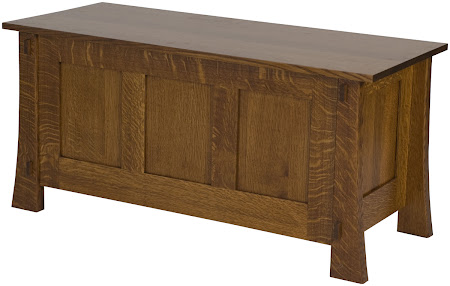 "36"" Wide x 18"" high x 16"" deep Seville Chest in Mahogany Quarter Sawn Oak"