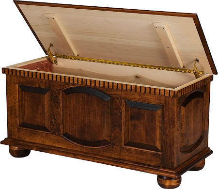 """36"""" wide Valencia Chest in Onyx Maple"""