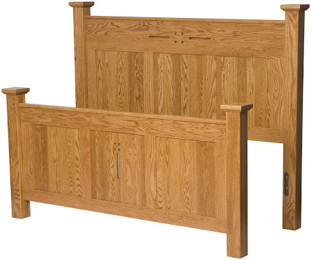 Florence Bed Frame in Cinnamon Oak