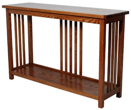 Mission Sofa Table Shown in Medium Oak